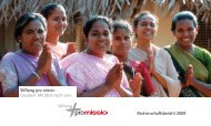 Rechenschaftsbericht 2009 - Stiftung pro missio