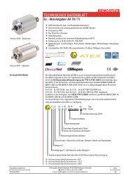 TECHNISCHES DATENBLATT - Hengstler GmbH