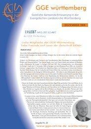 Download - Nr. 42 - Dezember 2009 als PDF-Datei - Geistliche ...