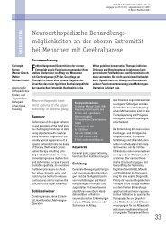 Behandlung der oberen Extremität bei ICP 2011 - Motio