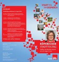 köpenicker stadtteiltag - SPD-Fraktion des Abgeordnetenhauses ...