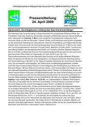 NPSH_Presse_KW18_Sonntagstouren - Naturpark Saar-Hunsrück