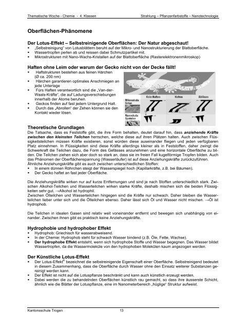 Thematische Woche 4. Klassen Strahlung - Kantonsschule Trogen