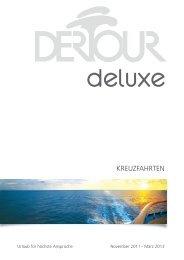 DERTOUR - Deluxe: Kreuzfahrten - 2011/2012