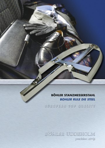 BÖHLER STANZMESSERSTAHL BOHLER RULE DIE STEEL