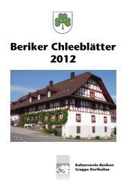 Beriker Chleeblätter 2012 - Kulturverein Berikon