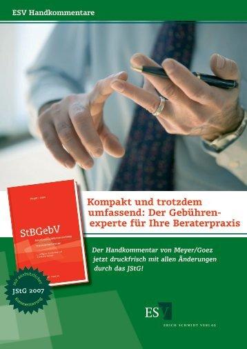 Meyer-Goez Prospekt 2006 4.indd - Erich Schmidt Verlag