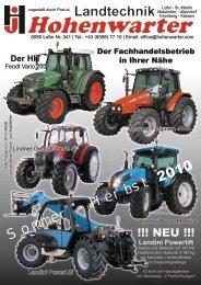 Landwirtschaft Sommer Herbst 2010.pdf - Gebrauchtertraktor.at
