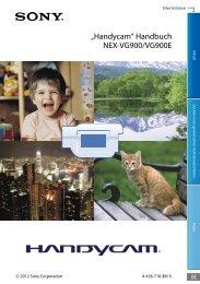 """Handycam"" Handbuch NEX-VG900/VG900E"