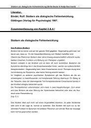 Stottern als dialogische Fehlentwicklung - digithi.de