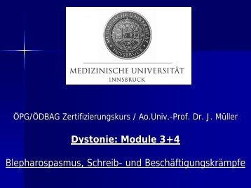 Dystonie Modul 3+4 (PDF) - ÖDBAG