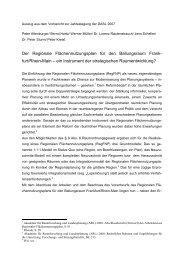 Der Regionale Flächennutzungsplan für den Ballungsraum Frank ...