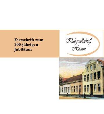 Festschrift zum 200-jährigen Jubiläum - Klubgesellschaft
