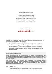 Arbeitsvertrag für EU Arbeitnehmer (Polen, Ungarn etc.) - Caremaid