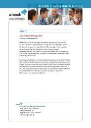 Social Media Manager IHK - Wirtschafts