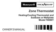 69-0432 - Zone Thermostat ||Heating/Cooling Thermostat and ...