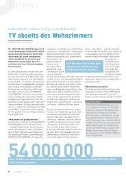 TV abseits des Wohnzimmers - ERF Medien