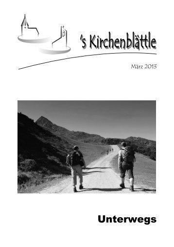 Gemeindebrief März 2013 - Evang. Kirchenbezirk Bad Urach