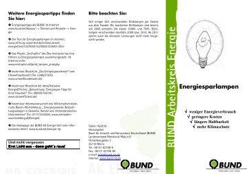 Faltblatt 2010 - BUND Landesverband Rheinland-Pfalz
