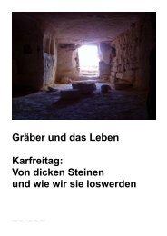 Gräber und das Leben Karfreitag - Freie evangelische Gemeinde ...
