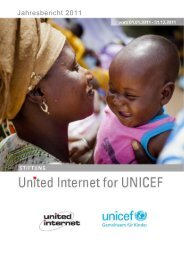 Jahresbericht 2011 - United Internet for UNICEF