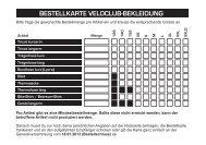 Bestellkarte Bekleidung 2013 - VeloClub Eschenbach