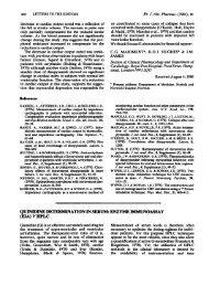 quinidine determination in serum: enzyme immunoassay (eia) v hplc