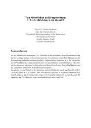 Von Monolithen zu Komponenten - KLUEDO - Universität ...