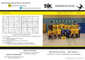 findet Ihr die Ausgabe vom 24. Spieltag. - DJK Eintracht Hiltrup