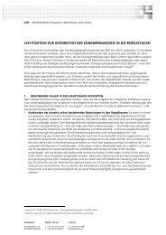 Positionspapier zur Integration der Sonderpädagogik in ... - beim LCH