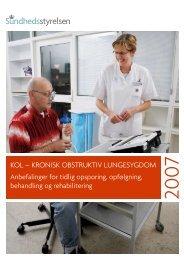 KOL – KRONISK OBSTRUKTIV LUNGESYGDOM - Sundhedsstyrelsen