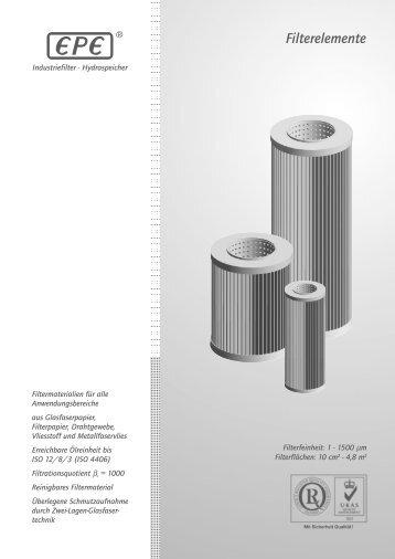 Filterelemente - Ifhfilters.it
