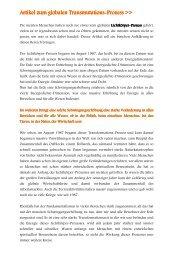 Artikel zum globalen Transmutations_Hintergrund - Ramona Aurin
