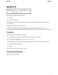 REDUCE - Software AG Documentation