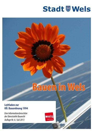 Bauherren-Informationen (631 KB) - Stadt Wels