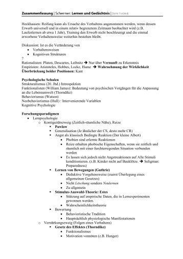 Motivationspsychologie: Gründe für ein bestimmtes ... - Leinstein.de