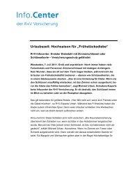 """Urlaubszeit: Hochsaison für """"Frühstücksdiebe"""" - R+V Versicherung"""