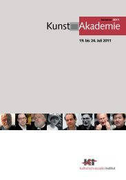 Kunstakademie 2011 - Tagungshäuser im Erzbistum Köln