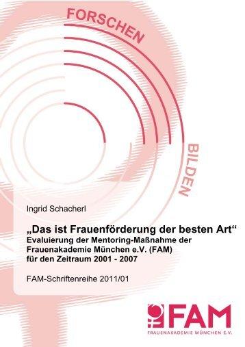 FAM-Schriftenreihe 01/2011 - Dr. Ingrid Schacherl