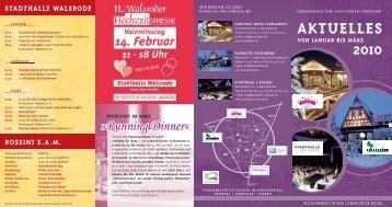 Januar Februar März - Marktplatz Walsrode