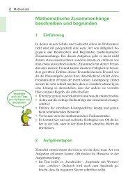 Mathematische Zusammenhänge beschreiben und begründen 1 ...
