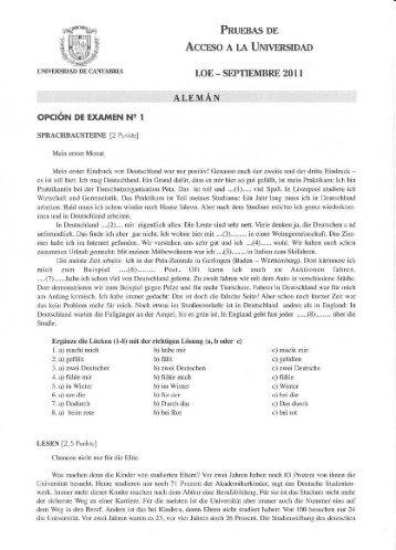 PRUEBAS es Accese a. ca Umvensrumu - Universidad de Cantabria