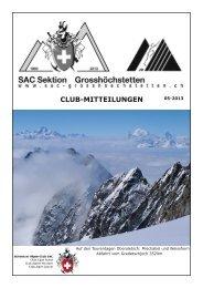 Clubnachrichten 1. Ausgabe 2013 - SAC Sektion Grosshöchstetten