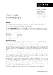 Geschäftsbedingungen - BOSShard Farben