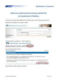 Ablauf einer eBanking-Erstanmeldung zu MobileTAN (mit ...