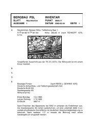 BERGBAU PSL INVENTAR - Mineralienatlas