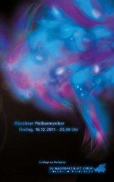 Münchner Philharmoniker Freitag, 16.12.2011 - Konzerthaus ...