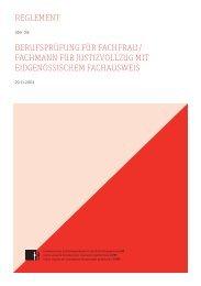 Reglement über die Berufsprüfung für Fachmann/Fachfrau für ...