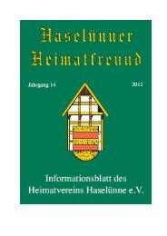 Zeitzeuge 1 - Heimatverein Haselünne
