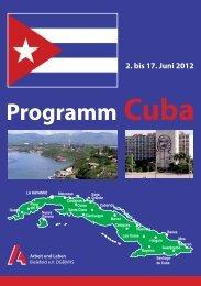 Programm Cuba 02.-17.06.12 - Arbeit und Leben Bielefeld eV